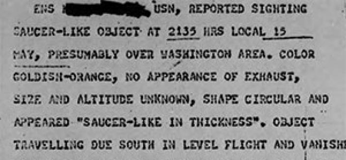 Imagine what Hollywood filmmakers would've come up with if they had gotten their hands on Project Blue Book reports like this one back in the 1950s. (Photo source: Project Blue Book)