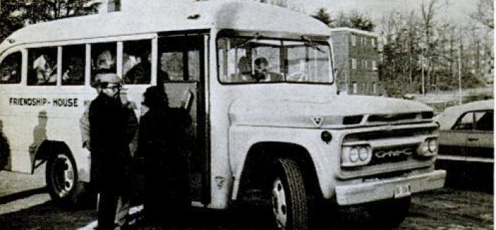 """Boycotters board a """"freedom bus,"""" one of the provided forms of transportation. (Source: Jet Magazine, Feb 10, 1966, accessible via GoogleBooks)"""