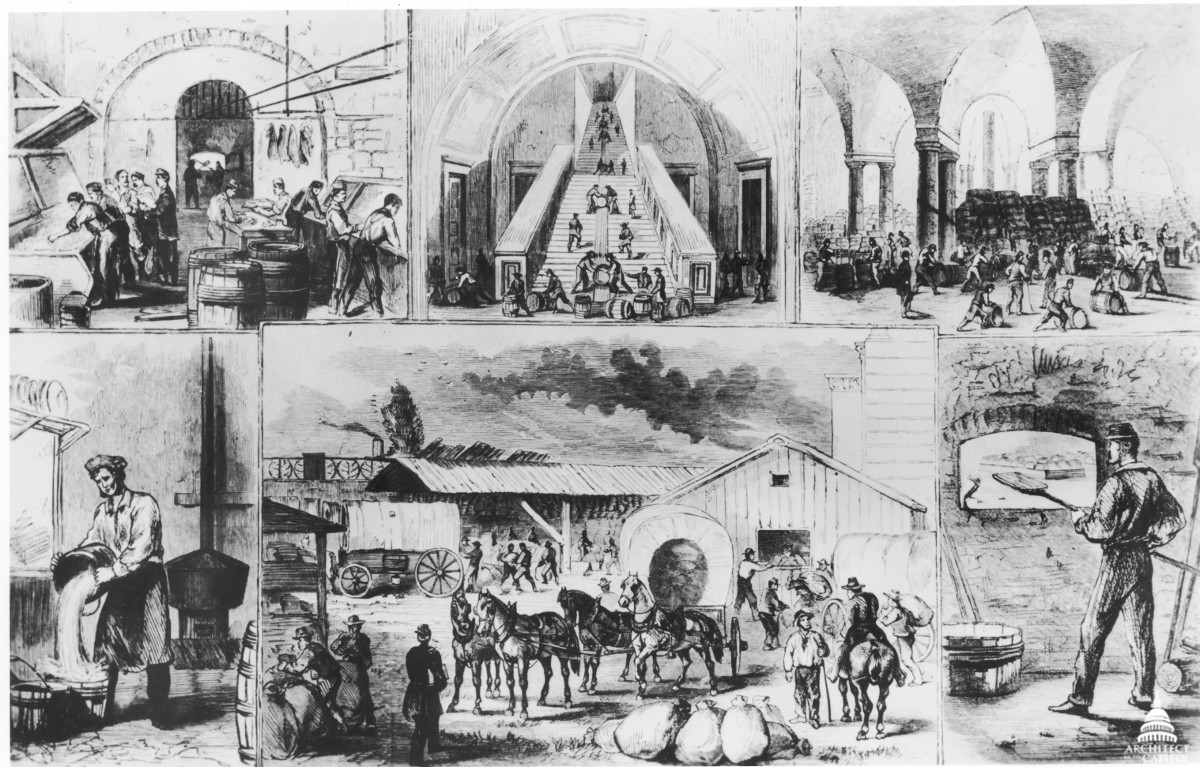The Capitol's grand Civil War bakery occupied the majority of the building's large basement. (Photo Source: Architect of the Capitol)