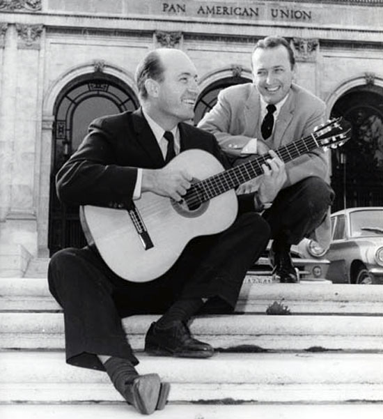 Charlie Byrd and Felix Grant. Credit: Felix E. Grant Archives, University of the District of Columbia