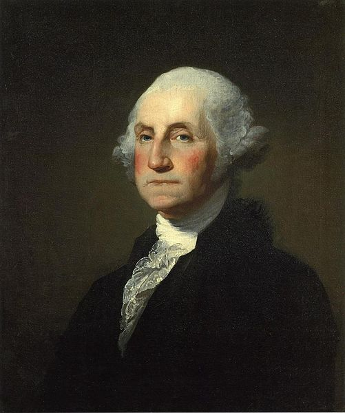 Gilbert Stuart painting of George Washington. (Source: Wikipedia)