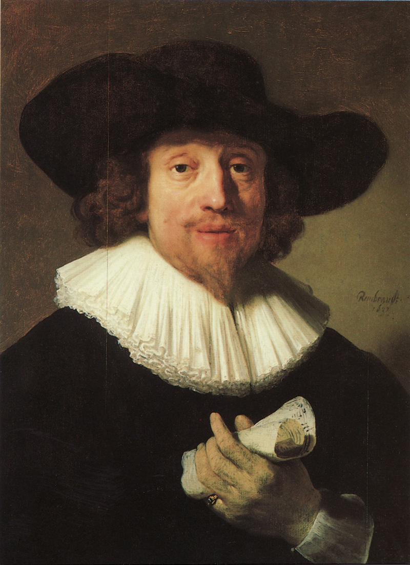 Nobody is 100% sure who this Rembrandt painting depicts but it is clear that it was damaged by a would-be thief in 1959 at the Corcoran. (Source: Wikimedia Commons.)