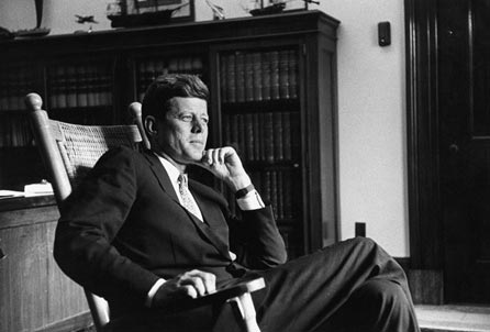 John F. Kennedy in his Senate office in 1959. (Photo source: John F. Kennedy Presidential Library and Museum)