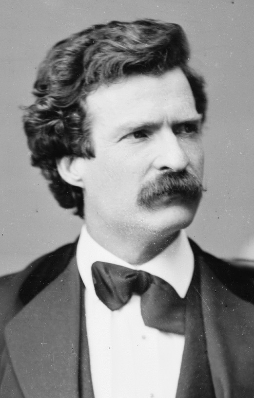 Mark Twain, 1871 portrait by Matthew Brady. (Photo source: Wikipedia)