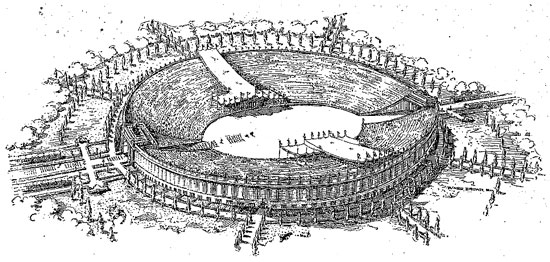 Perhaps D.C.'s recent bid to host the Olympics would've been more succesful if this stadium had been built on the Potomac. (Photo source: Washington Post)