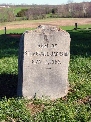 Marker for Stonewall Jackson's Arm Grave.