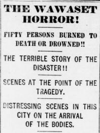 Wawaset Horror Headline from Washington Evening Star Newspaper, August 9, 1873. (Source: Library of Congress)