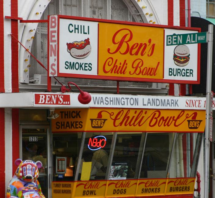 Facade of Ben's Chili Bowl (Photo Source: Creative Commons) https://c1.staticflickr.com/1/12/15542832_25808e5769_b.jpg