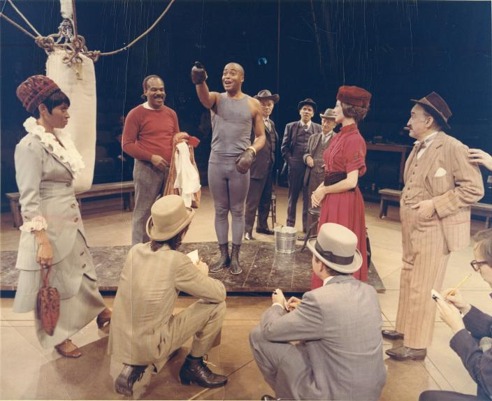 The cast of The Great White Hope at Arena, 1967 (Credit: Arena Stage Records, C0017, Special Collections Research Center, George Mason University Libraries.)