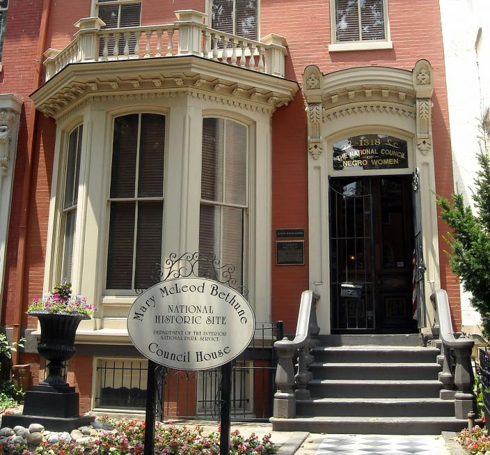 Front of Mary McLeod Bethune Council House. (Source: Wikimedia Commons)