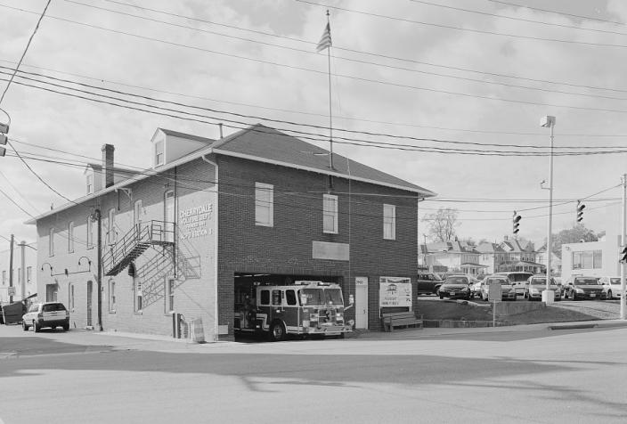 Cherrydale firehouse. (Source: Library of Congress)