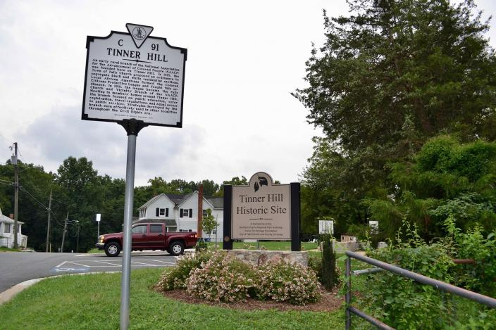 Tinner Hill marker in Falls Church. (Credit: Jacob Kaplan)