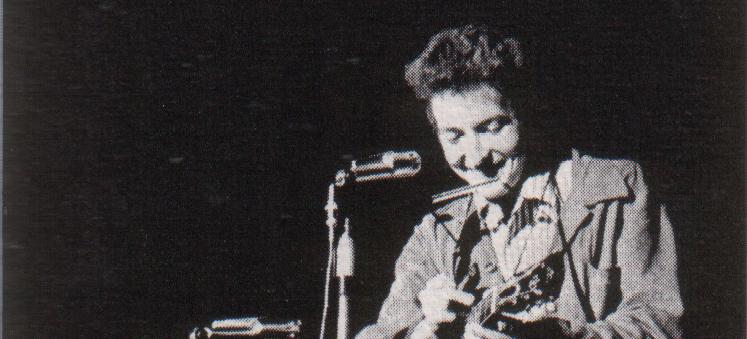 Bob Dylan in 1963 as pictured in St. Lawrence University yearbook. (Source: Wikipedia)