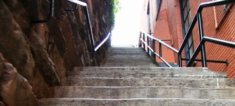 Exorcist stairs (Source: Wikimedia Commons)