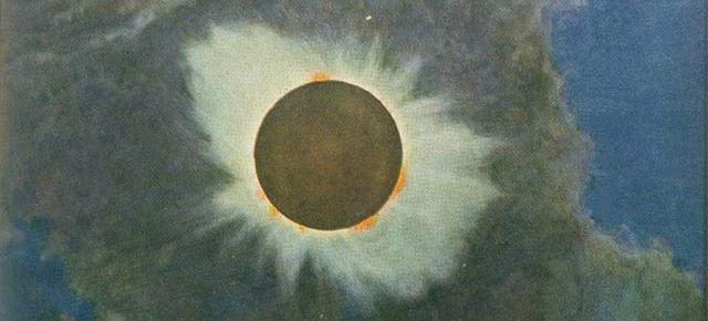 Howard Russell Butler painting of 1918 eclipse. (Source: Wikipedia)