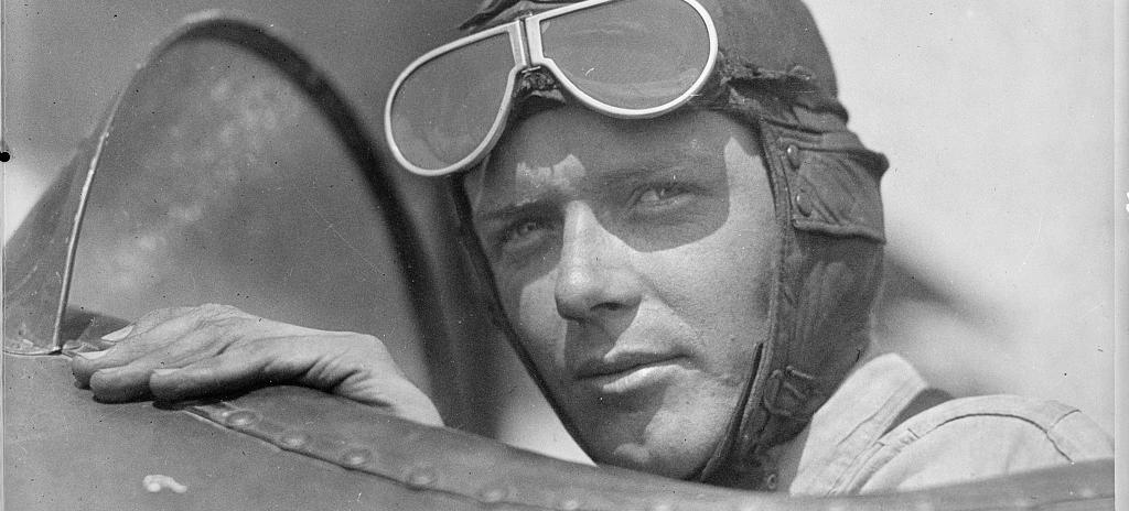 Charles Lindbergh at Lambert Field in 1923. (Source: Library of Congress)