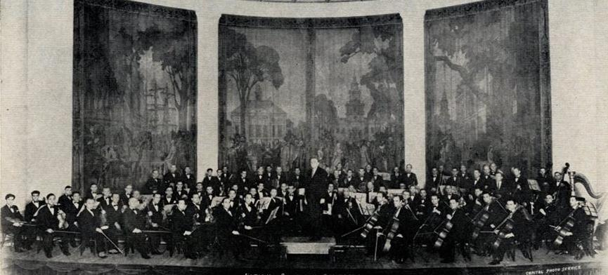 The National Symphony Orchestra at their first concert in 1930