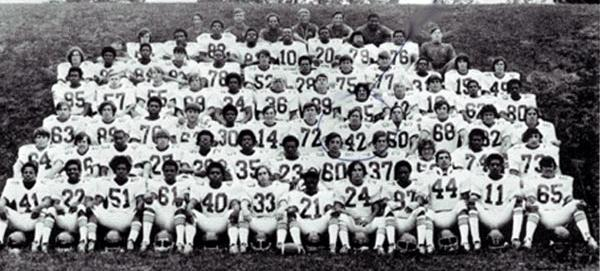 1971 T.C. Williams football team (Source: Chasing the Frog website)