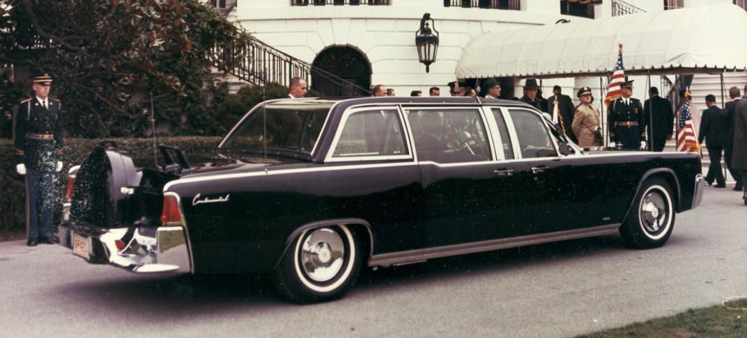 Presidential limo used by President Kennedy. (Source: Flickr user That Hartford Guy via Creative Commons license.)