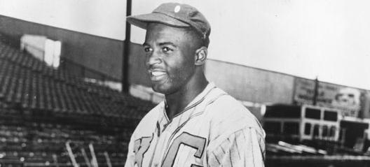 Jackie Robinson tied a National Negro League record by going 7 for 7 at the plate in a June 24, 1945 game against the Homestead Grays in Washington. (Photo source: Library of Congress)