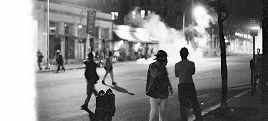 Youth clash with police during 1991 riots in Washington's Mount Pleasant neighborhood. (Source: Flickr user secorlew. Used via Creative Commons Attribution-NonCommercial-NoDerivs 2.0 Generic license.)