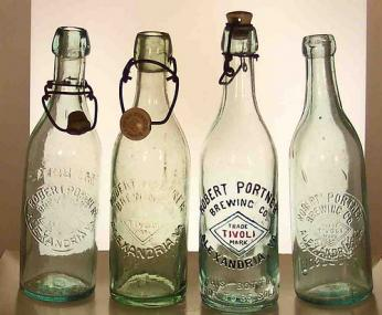 Various Robert Portner Brewing Company bottles