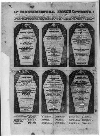 A coffin pamphlet (Source: Library of Congress)