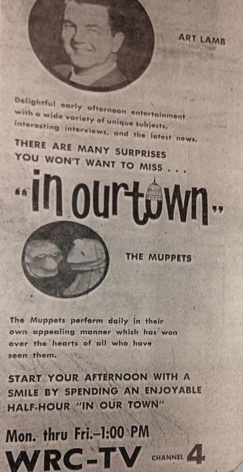 Newspaper advertisement for The Muppets on WRC-TV.