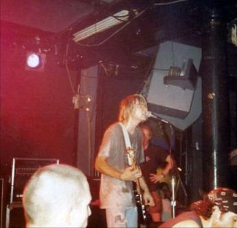Kurt Cobain performs with Nirvana at the 9:30 Club in Washington, D.C. on October 2, 1991.