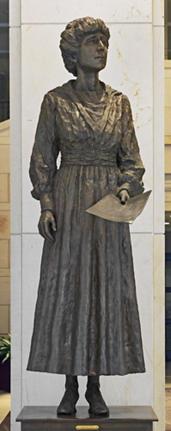 Statue of Jeannette Rankin at the Capitol