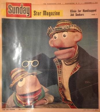 Cover of December 8, 1957 Sunday Star magazine, which featured Sam and Friends.