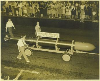 Torpedo made at the Naval Torpedo Station in Alexandria