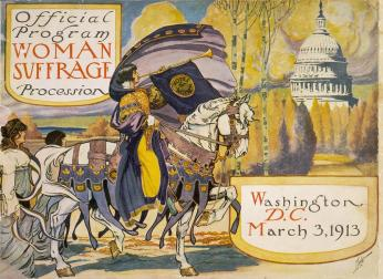 Official program of the Woman suffrage procession, Washington, D.C. (Credit: Library of Congress)