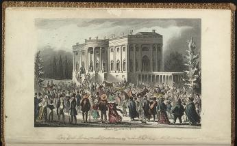 President's Levee, or all Creation going to the White House / Robert Cruikshank fect. (Source: Library of Congress)