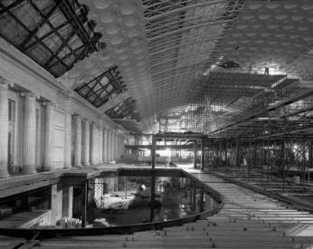 Restoring the station's ornate architecture was a delicate task. Credit: National Archives