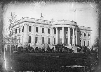 White House, 1846, Plumbe, John, photographer. [President's house i.e. White House, Washington, D.C., showing south side, probably taken in winter]. , ca. 1846. Photograph. Retrieved from the Library of Congress, https://www.loc.gov/item/2004664421/. (Accessed October 12, 2017.)