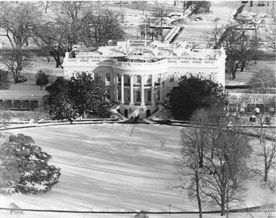 Washington remained buried in snow two days after the Super Bowl snowstorm. Credit: National Archives