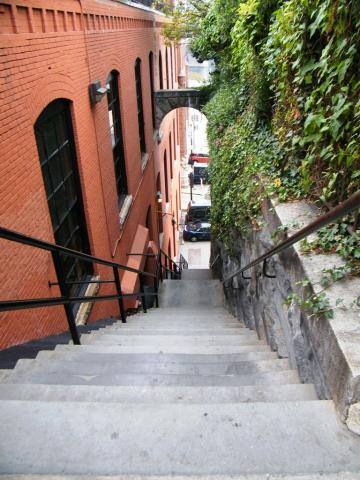 "The ""Exorcist"" stairs in Georgetown, which did not figure in the actual case that inspired the movie. Credit: Sarah Stierch, Wikimedia Commons"