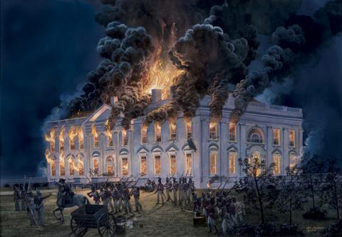 Painting by Tom Freeman. Source: The White House Historical Association.