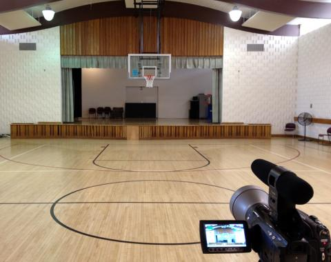 "The ""stage"" at Wheaton Youth Center as it looks today. (Photo: Jeff Krulik)"