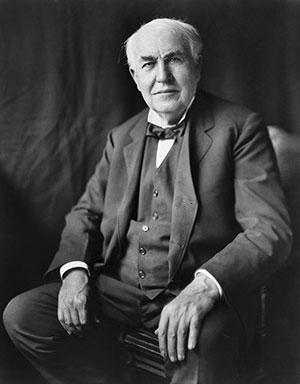 Thomas Edison (Photo source: Wikipedia)