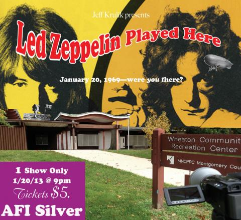 Did Led Zeppelin play at the Wheaton Youth Center on January 20, 1969?