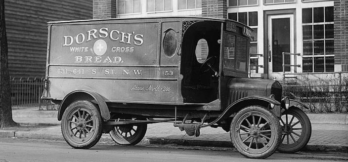 "Dorsch's Ford truck, 1923. (Photo Source: Library of Congress)  ""Dorsch's Ford Truck."" 1923. Photo, print, drawing. Library of Congress, Washington, D.C. 20540 USA. Accessed October 30, 2017. https://www.loc.gov/item/npc2007007765/."