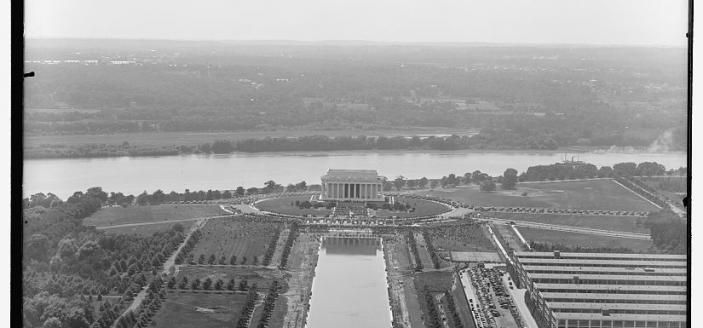 Lincoln Memorial Dedication Birds Eye