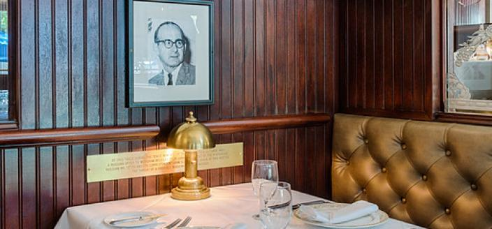 """Scali Table (Photo Source: Occidental Grill & Seafood Website) """"Dining Room - Occidental Grill & Seafood."""" n.d. Accessed March 6, 2018. http://www.occidentaldc.com/gallery/dining-room/"""