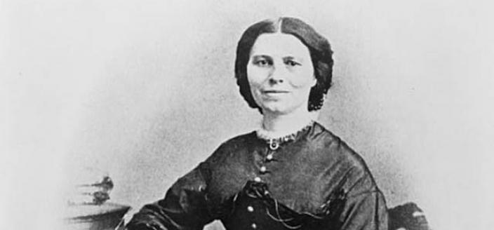 Clara Barton during the Civil War. Photo by Matthew Brady. (Source: Library of Congress)