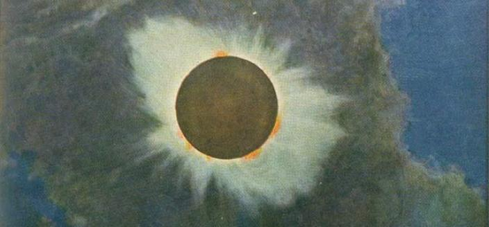 1918 Solar eclipse painting by Howard Russell Butler (Source: Wikipedia)