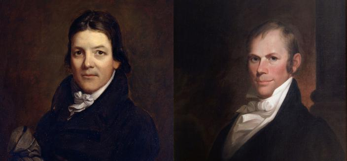 John Randolph (left) and Henry Clay (right) (Source: Wikipedia)