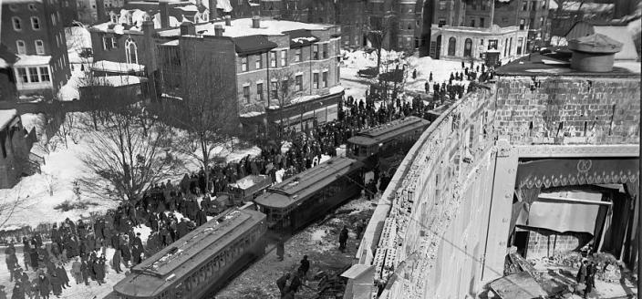 Knickerbocker Theater in the aftermath of the roof collapse on January 28, 1922.