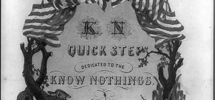 1850s sheet music dedicated to the Know Nothing party. (Source: Library of Congress)